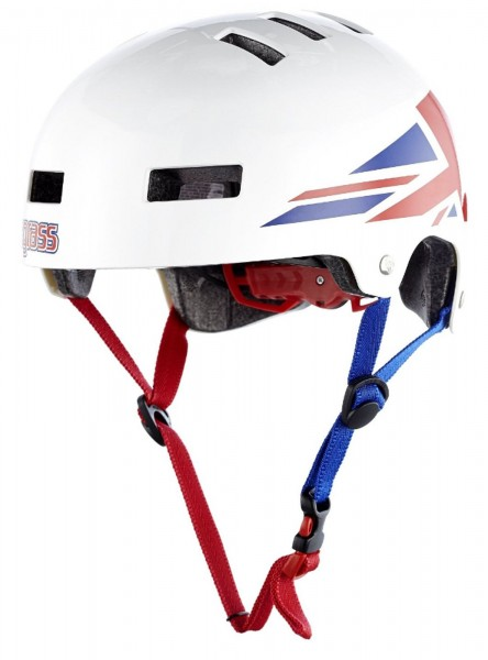 BLUEGRASS Dirt-Helm Super Bold Glossy White Union Jack - Gr. L 60-62cm